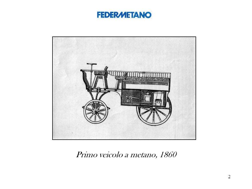 Primo veicolo a metano, 1860