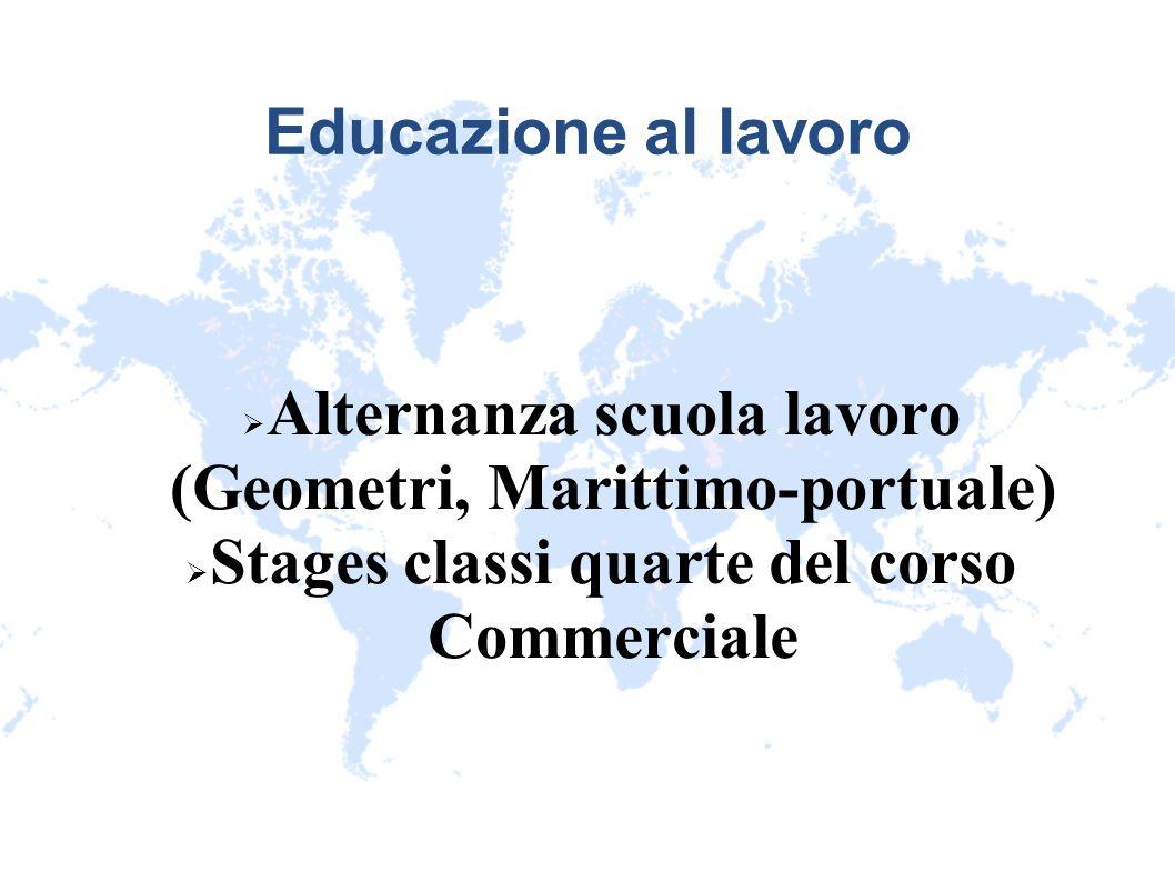 Alternanza scuola lavoro (Geometri, Marittimo-portuale)