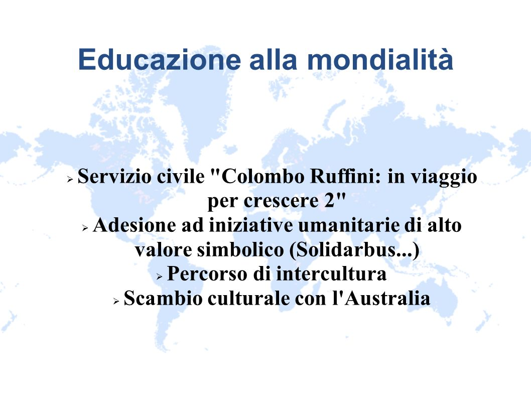 Educazione alla mondialità