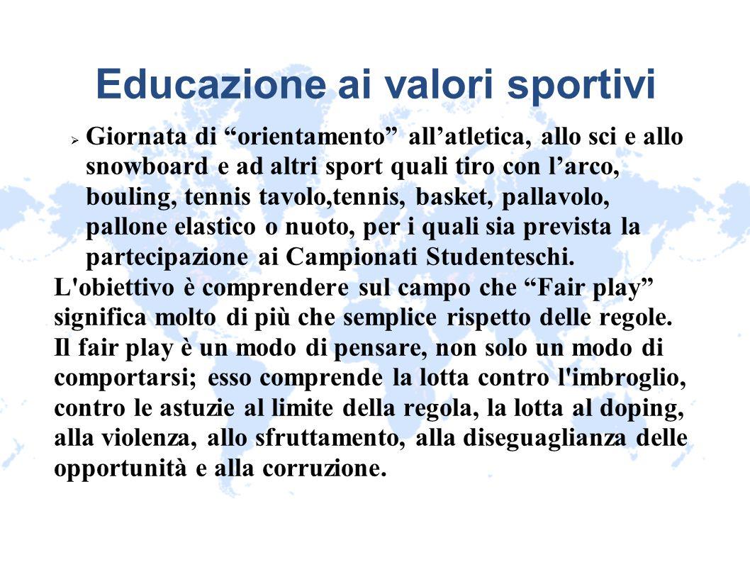 Educazione ai valori sportivi