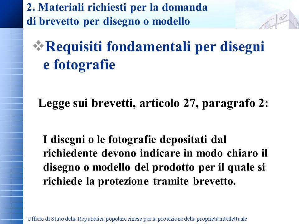 Requisiti fondamentali per disegni e fotografie