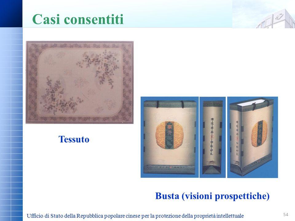 Casi consentiti Tessuto Busta (visioni prospettiche)