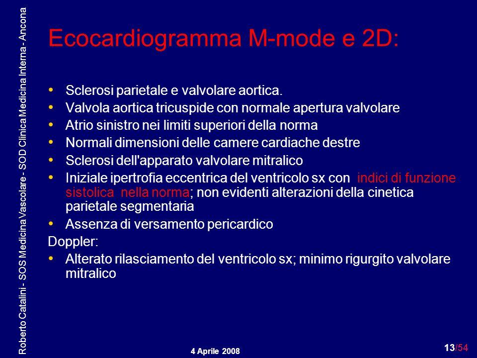 Ecocardiogramma M-mode e 2D: