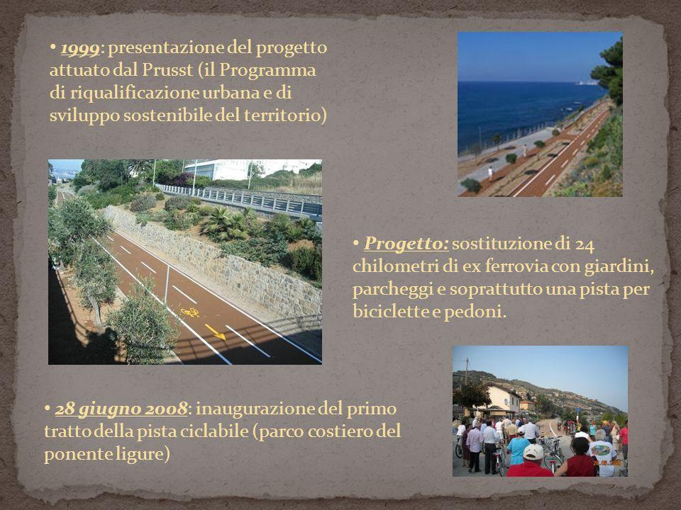 1999: presentazione del progetto attuato dal Prusst (il Programma di riqualificazione urbana e di sviluppo sostenibile del territorio)