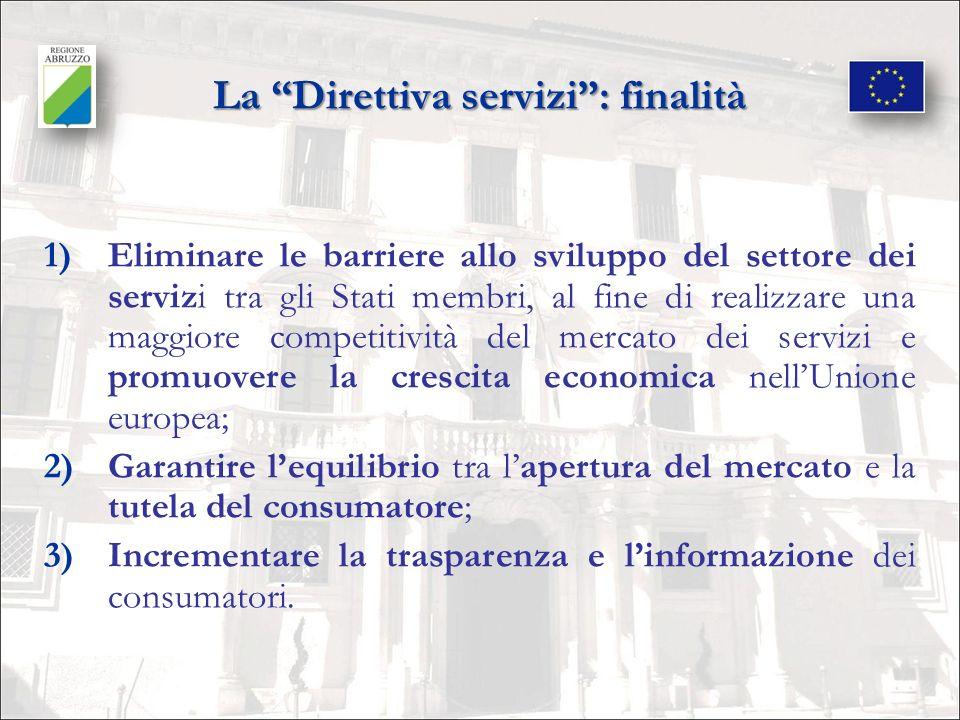 La Direttiva servizi : finalità