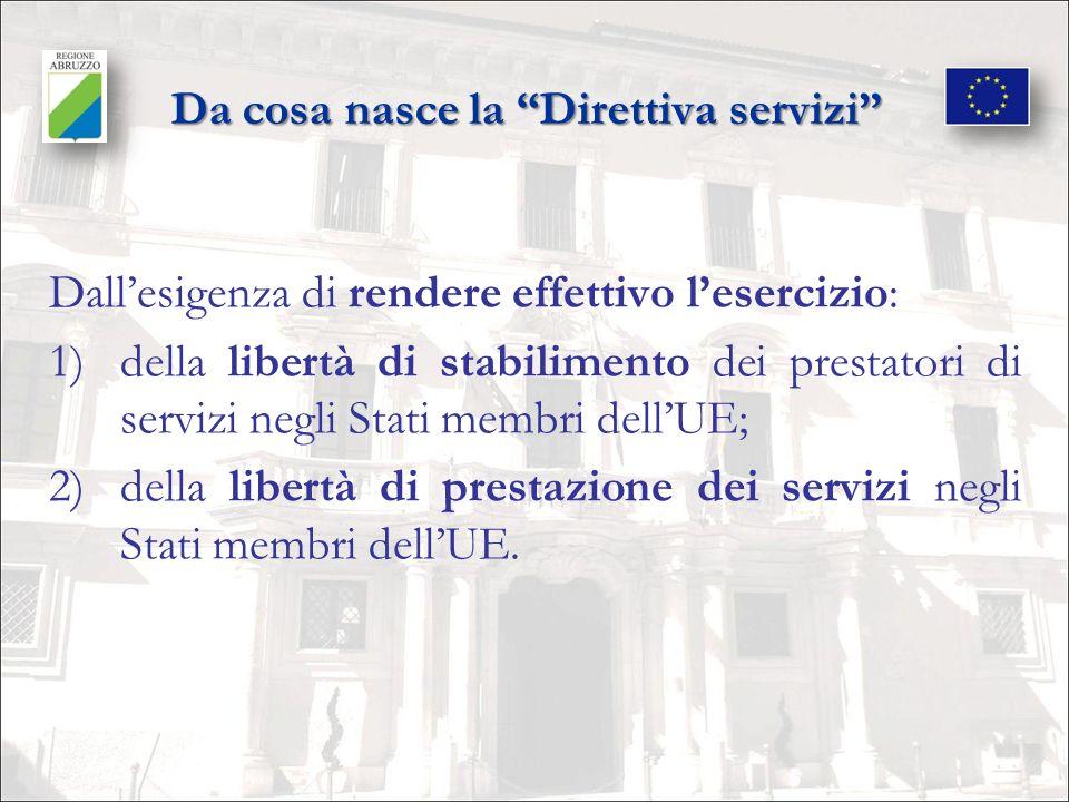 Da cosa nasce la Direttiva servizi