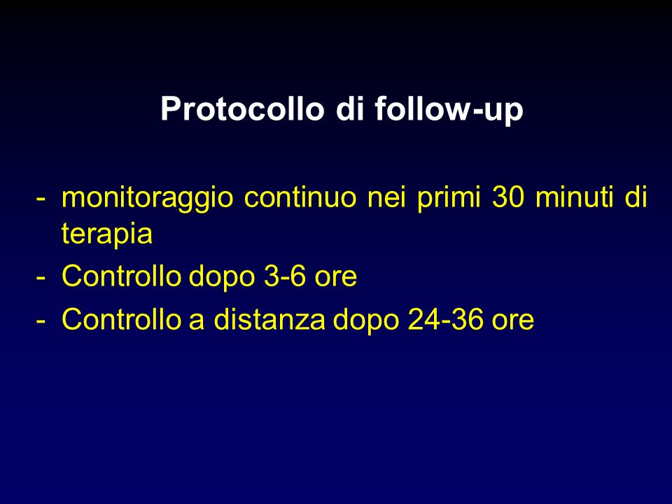 Protocollo di follow-up
