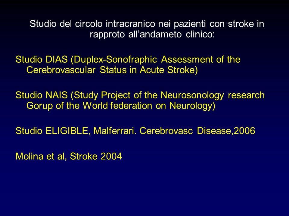 Studio del circolo intracranico nei pazienti con stroke in rapproto all'andameto clinico: