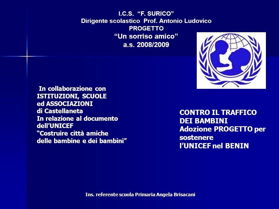 Adozione PROGETTO per sostenere l'UNICEF nel BENIN