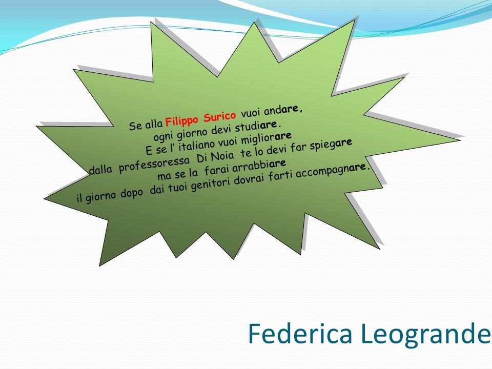 Federica Leogrande Se alla Filippo Surico vuoi andare,