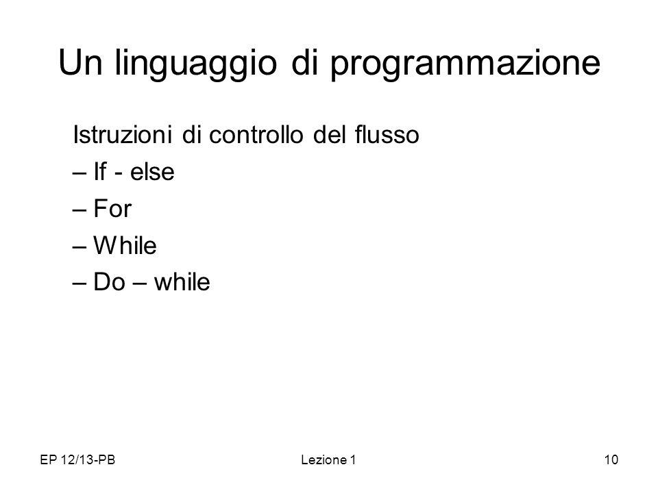 Un linguaggio di programmazione