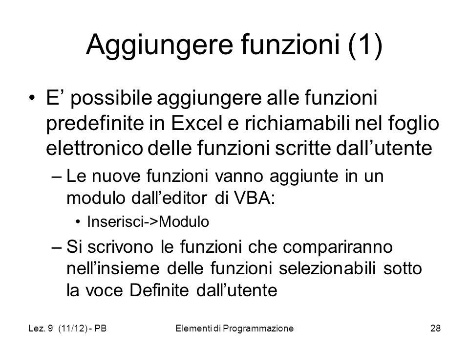 Aggiungere funzioni (1)