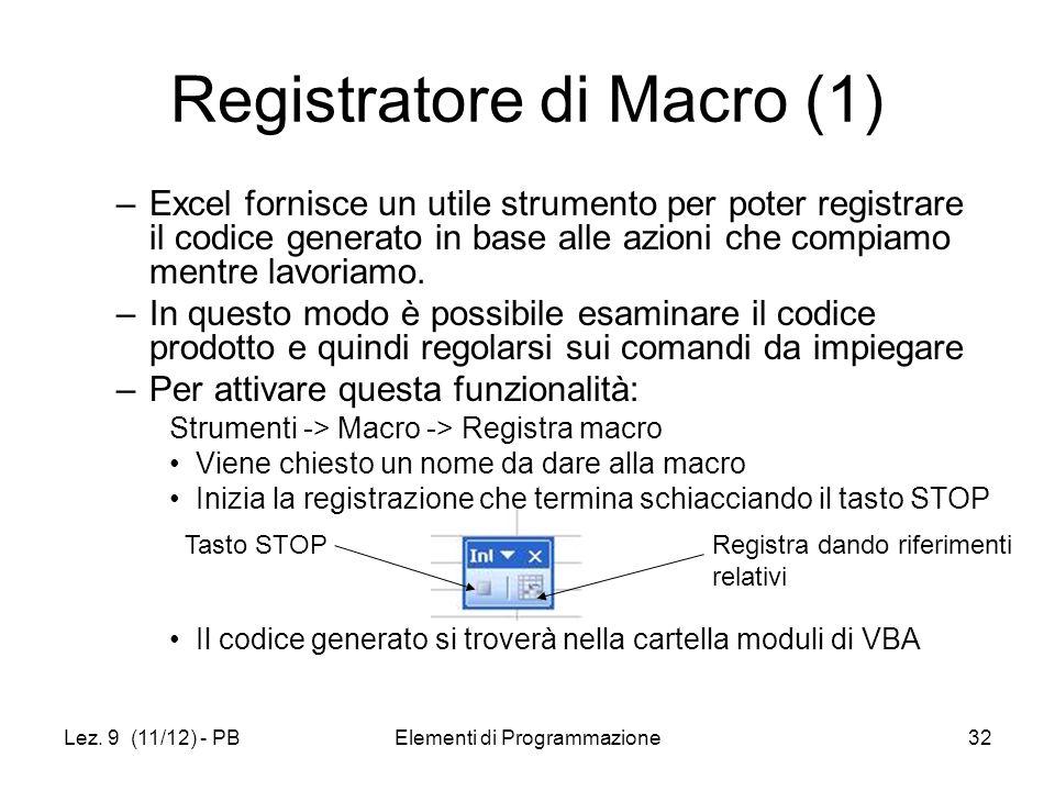 Registratore di Macro (1)