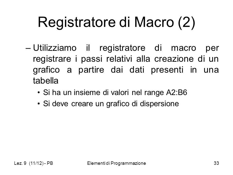 Registratore di Macro (2)