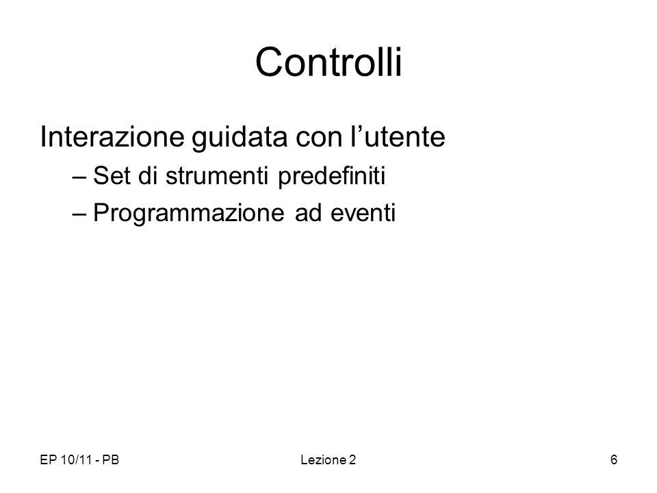 Controlli Interazione guidata con l'utente