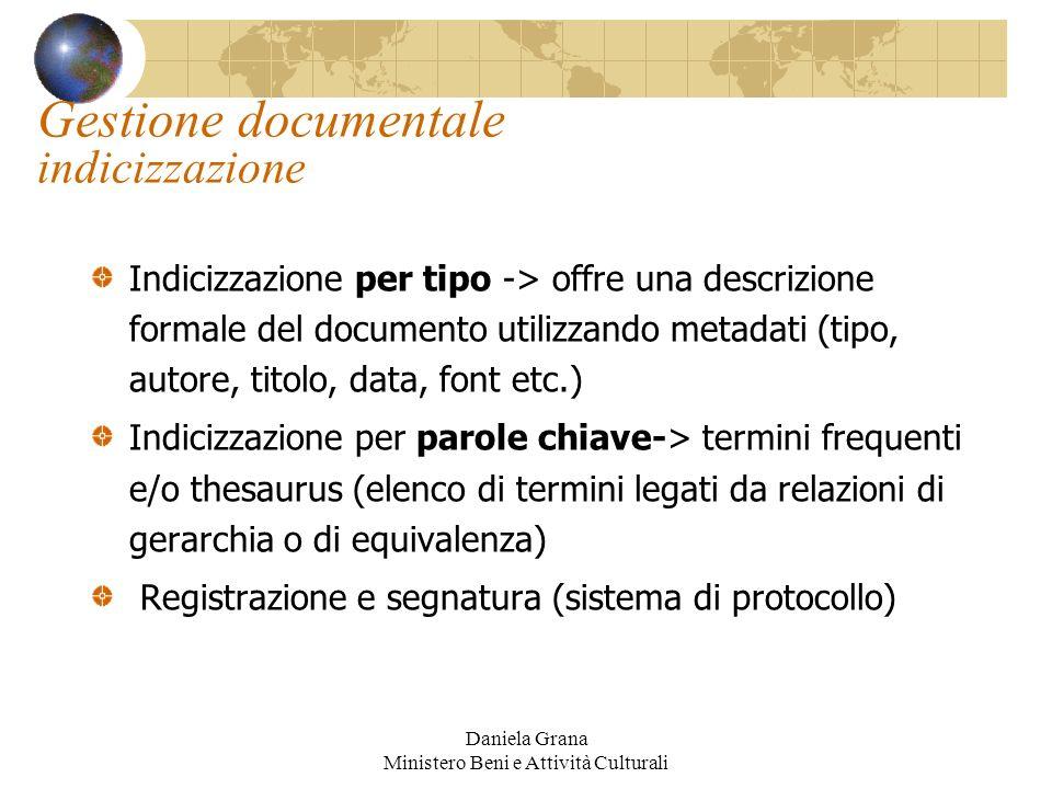 Gestione documentale indicizzazione