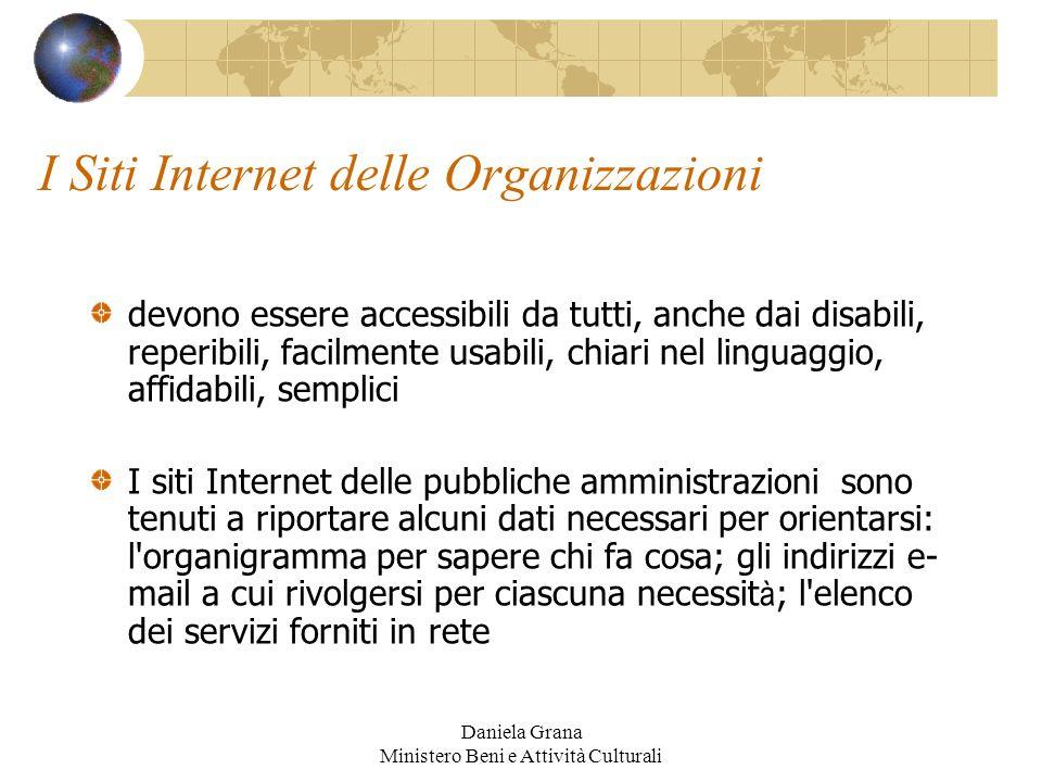 I Siti Internet delle Organizzazioni