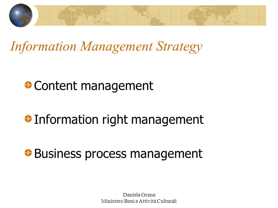 Information Management Strategy
