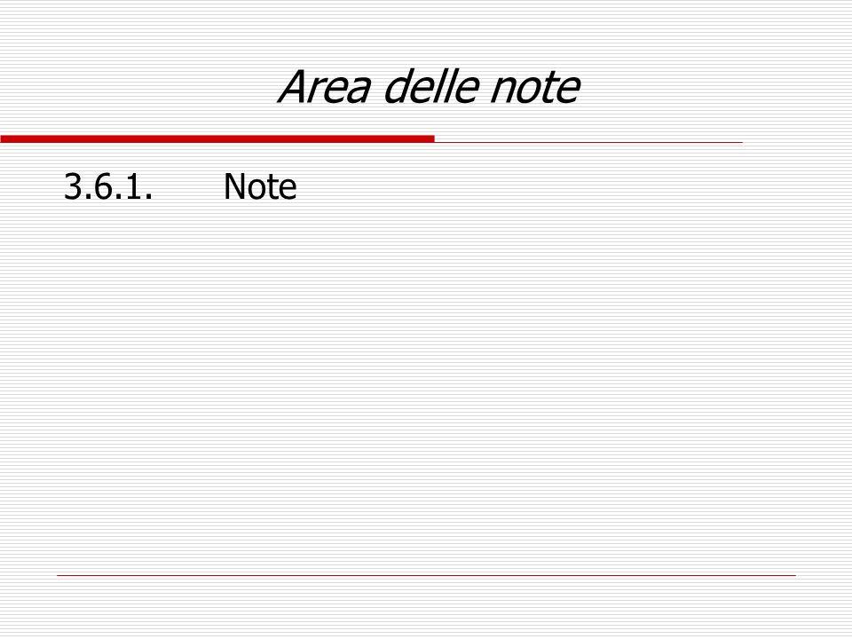 Area delle note 3.6.1. Note