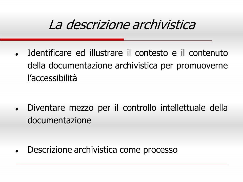 La descrizione archivistica