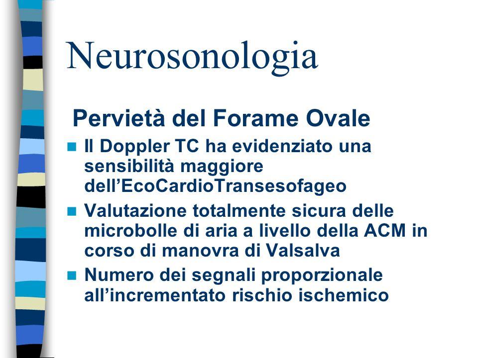 Neurosonologia Pervietà del Forame Ovale