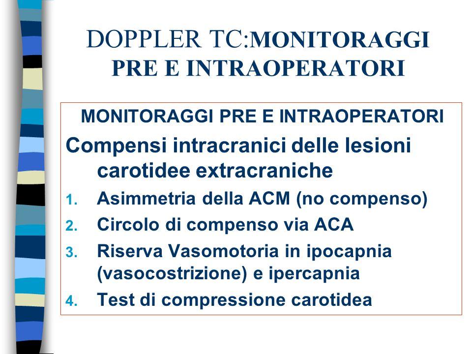 DOPPLER TC:MONITORAGGI PRE E INTRAOPERATORI