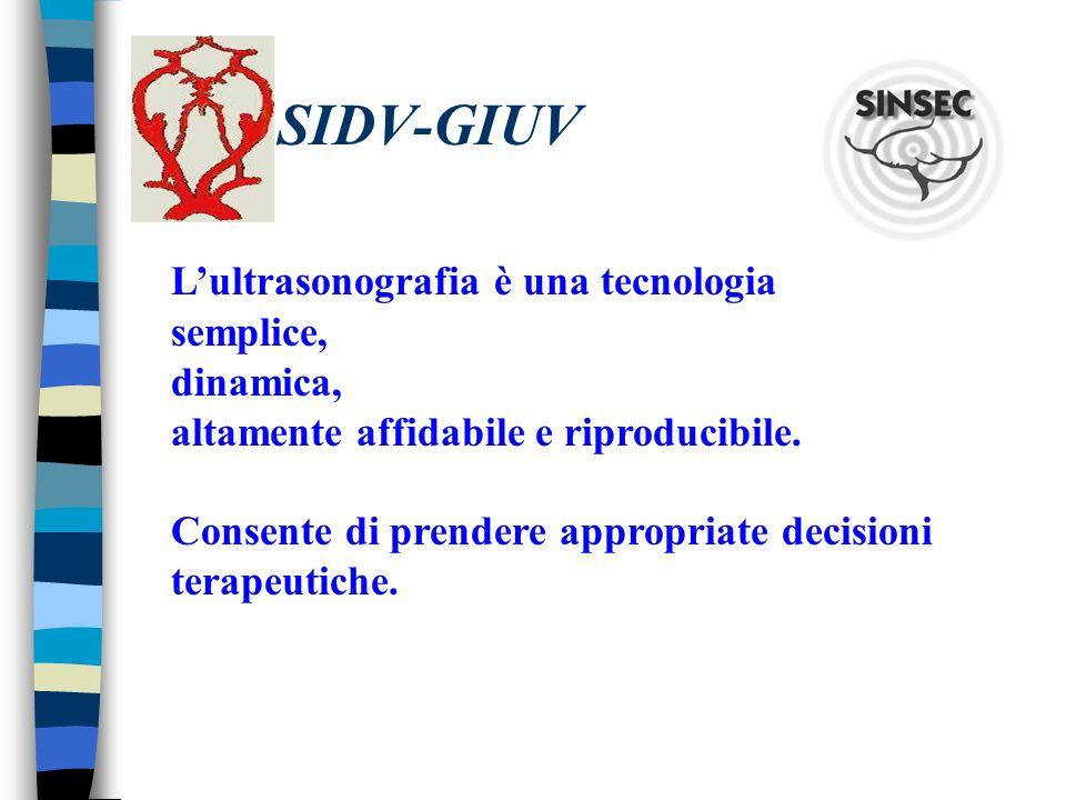 SIDV-GIUV L'ultrasonografia è una tecnologia semplice, dinamica,