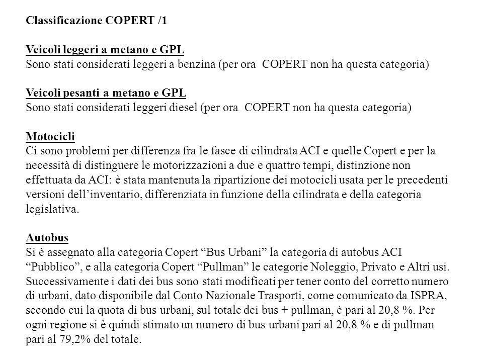 Classificazione COPERT /1