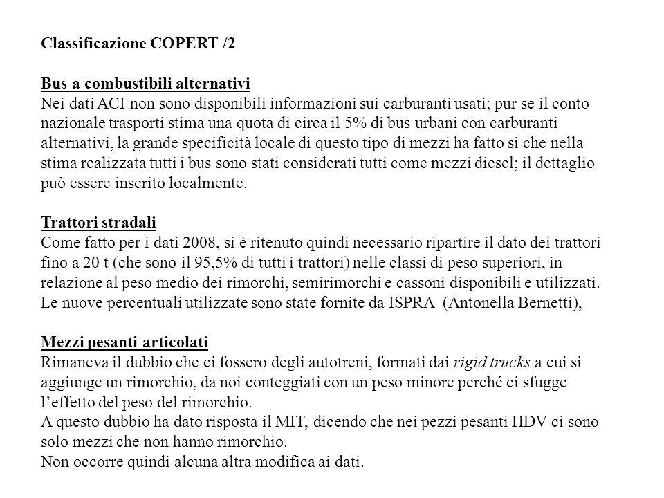 Classificazione COPERT /2