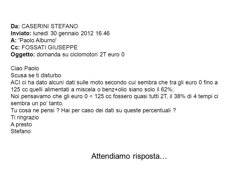 Da: CASERINI STEFANO Inviato: lunedì 30 gennaio 2012 16