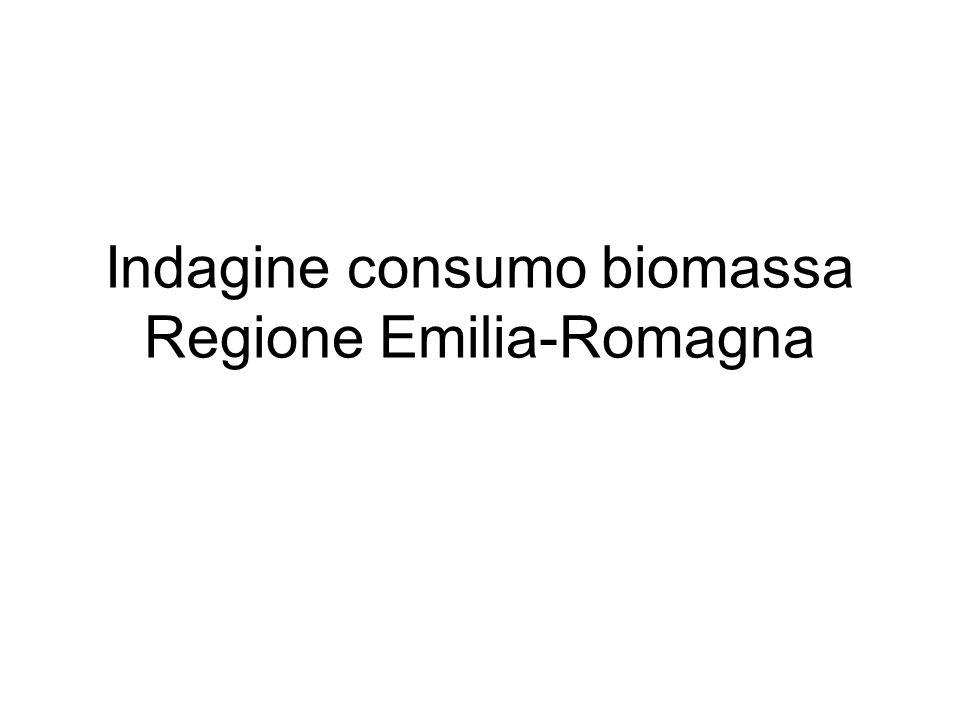 Indagine consumo biomassa Regione Emilia-Romagna