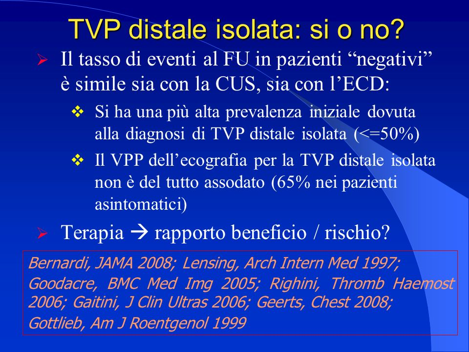 TVP distale isolata: si o no