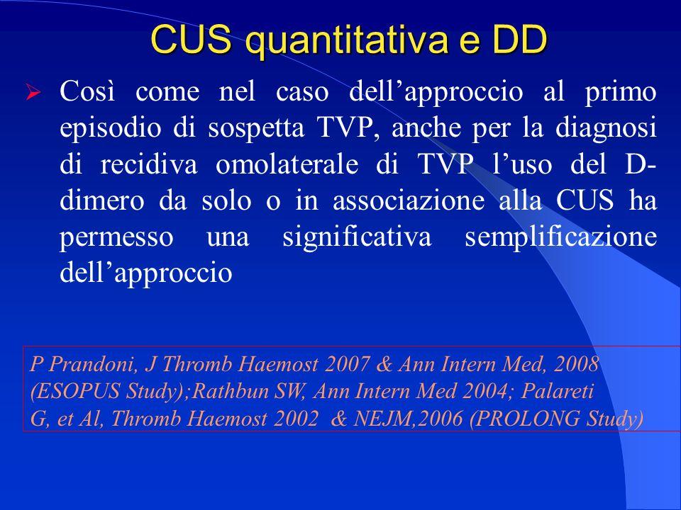CUS quantitativa e DD