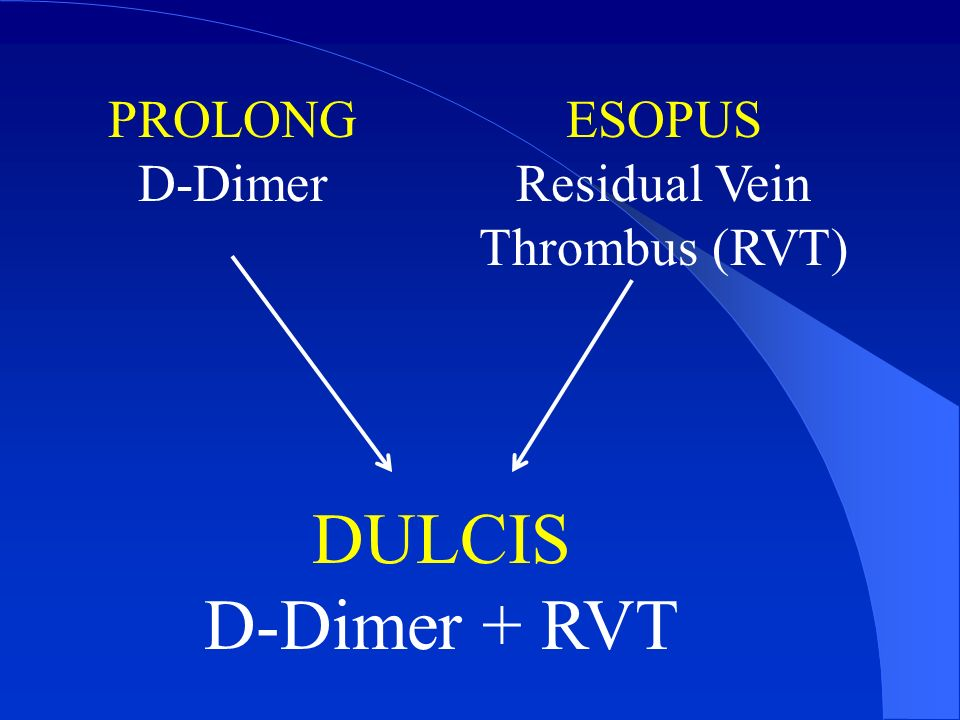 Residual Vein Thrombus (RVT)