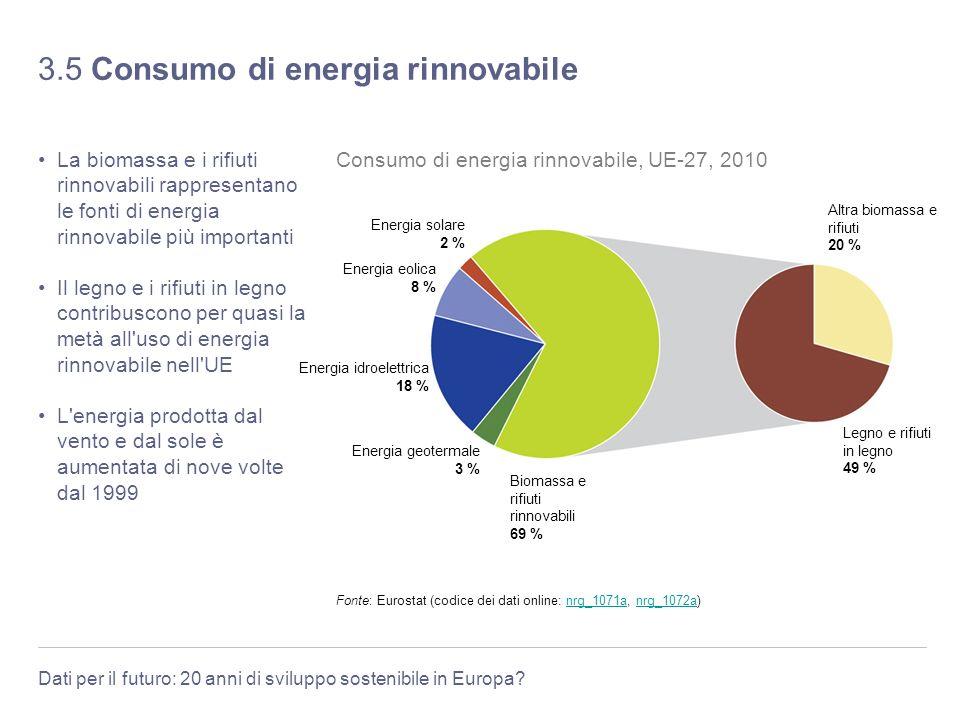 3.5 Consumo di energia rinnovabile