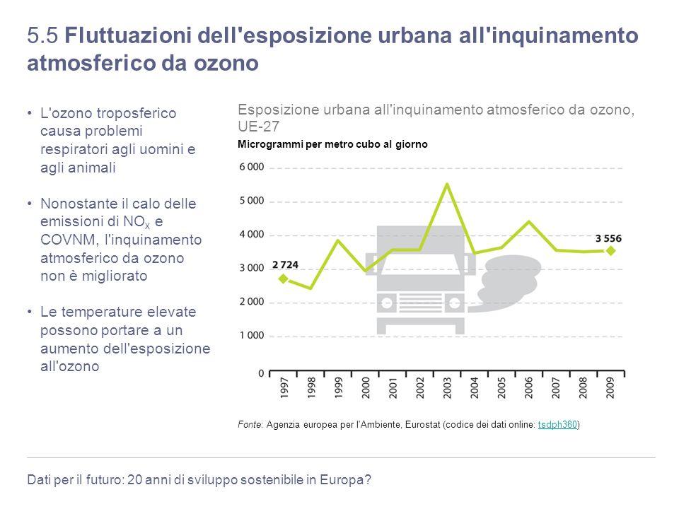 5.5 Fluttuazioni dell esposizione urbana all inquinamento atmosferico da ozono