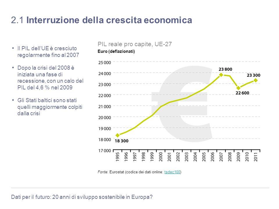 2.1 Interruzione della crescita economica