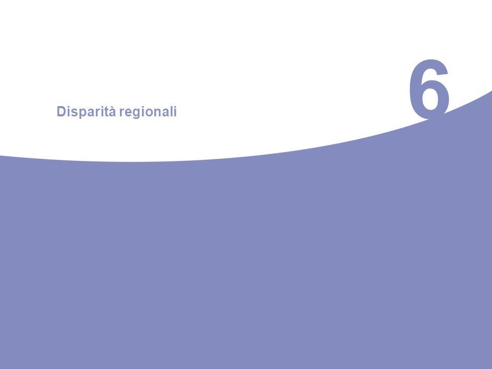 6 Disparità regionali