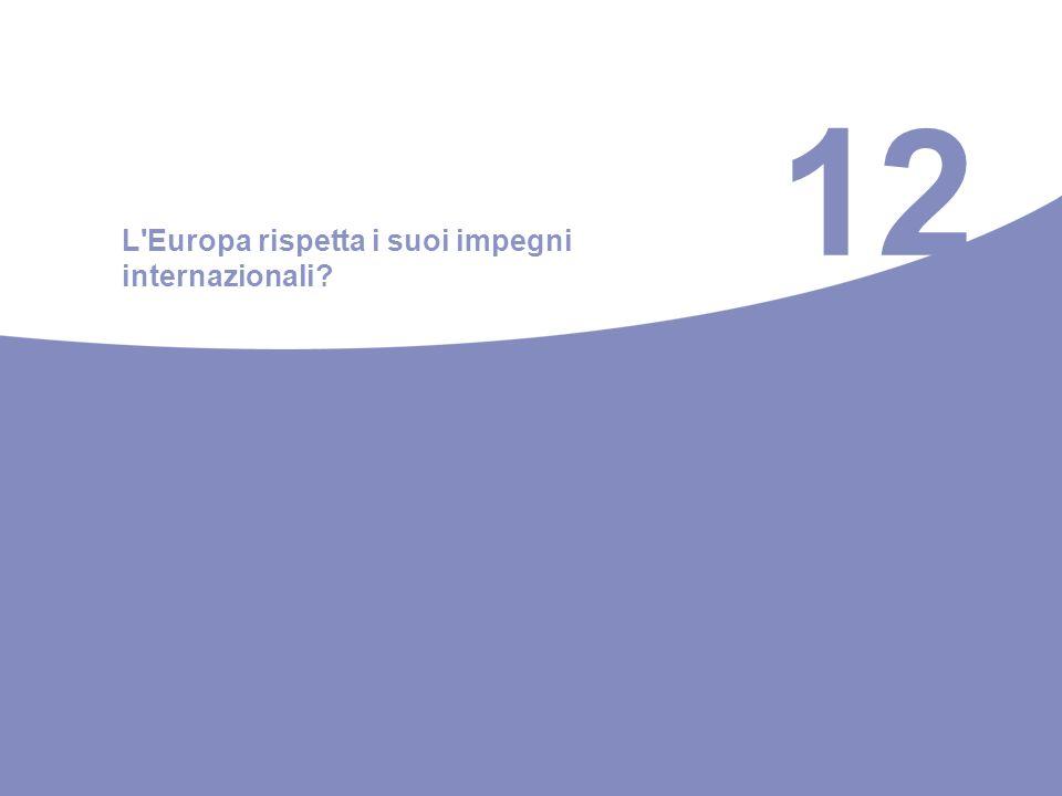 12 L Europa rispetta i suoi impegni internazionali