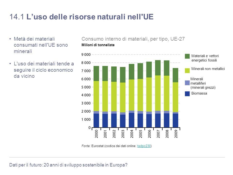 14.1 L'uso delle risorse naturali nell UE