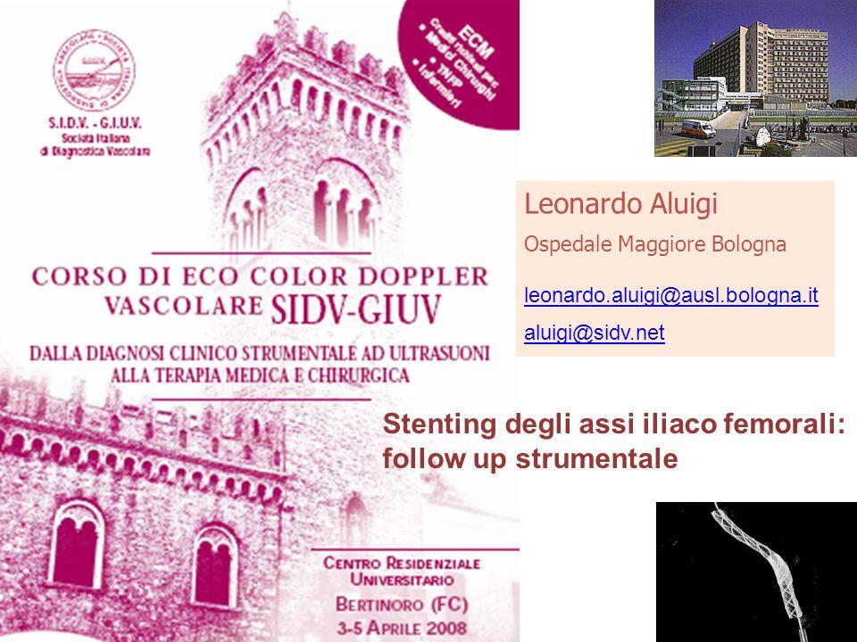 Stenting degli assi iliaco femorali: follow up strumentale