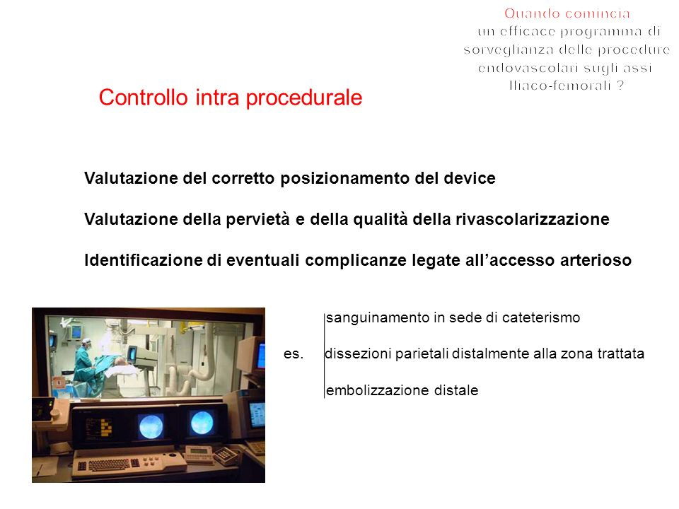 Controllo intra procedurale