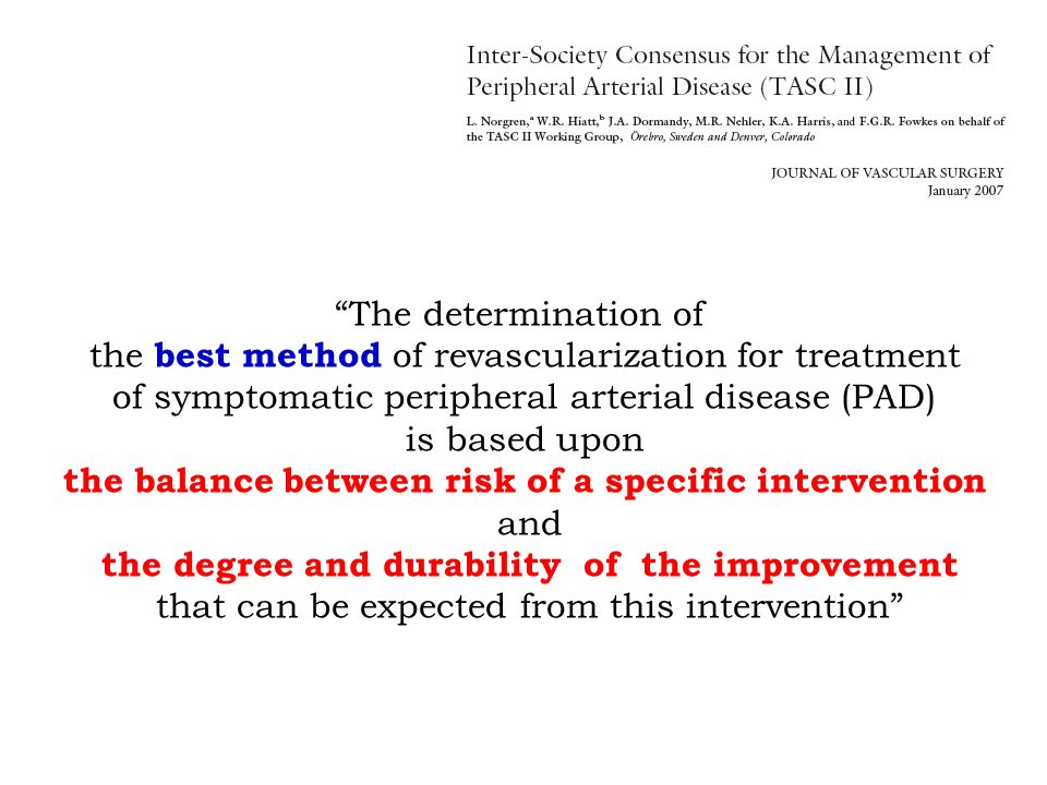 the balance between risk of a specific intervention