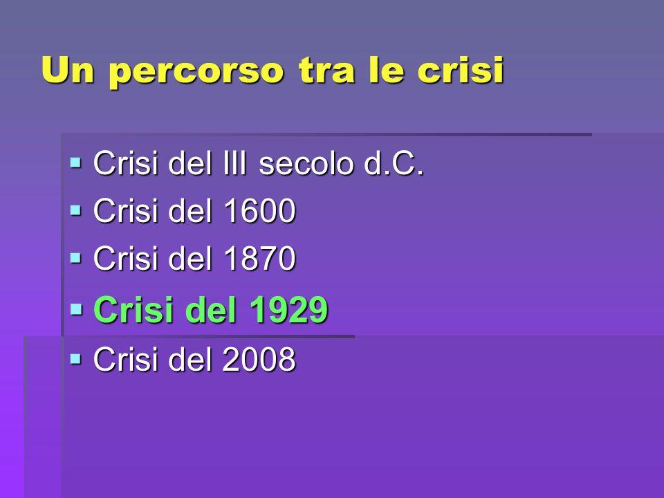 Un percorso tra le crisi