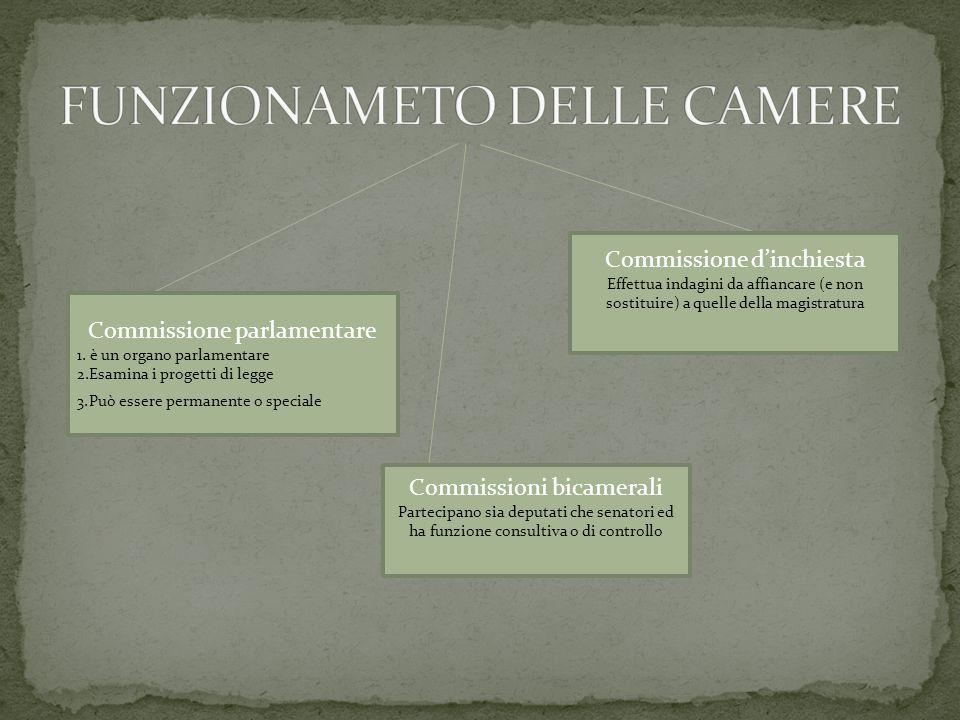 FUNZIONAMETO DELLE CAMERE