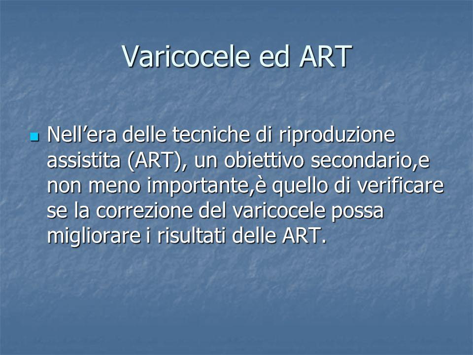 Varicocele ed ART
