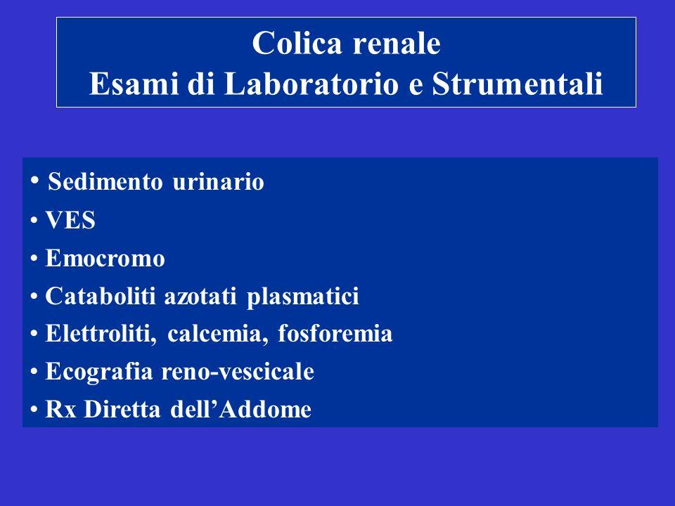 Colica renale Esami di Laboratorio e Strumentali