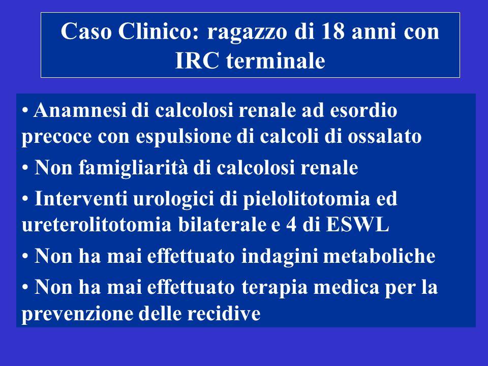 Caso Clinico: ragazzo di 18 anni con IRC terminale