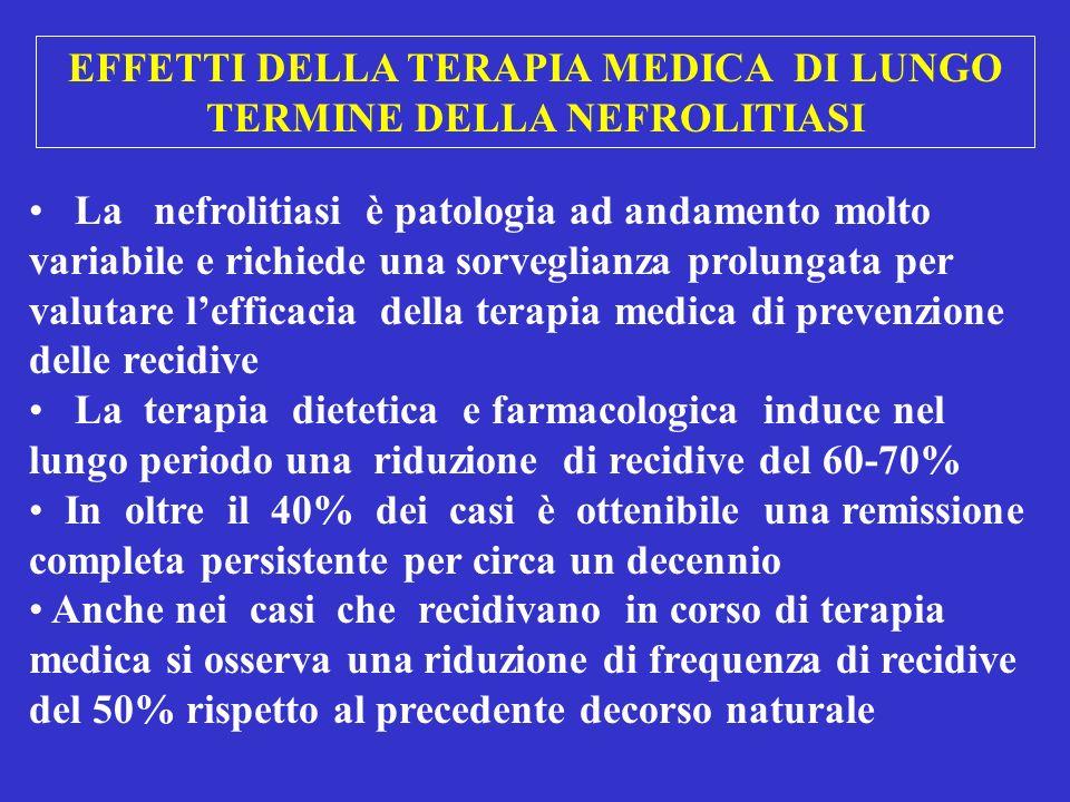 EFFETTI DELLA TERAPIA MEDICA DI LUNGO TERMINE DELLA NEFROLITIASI