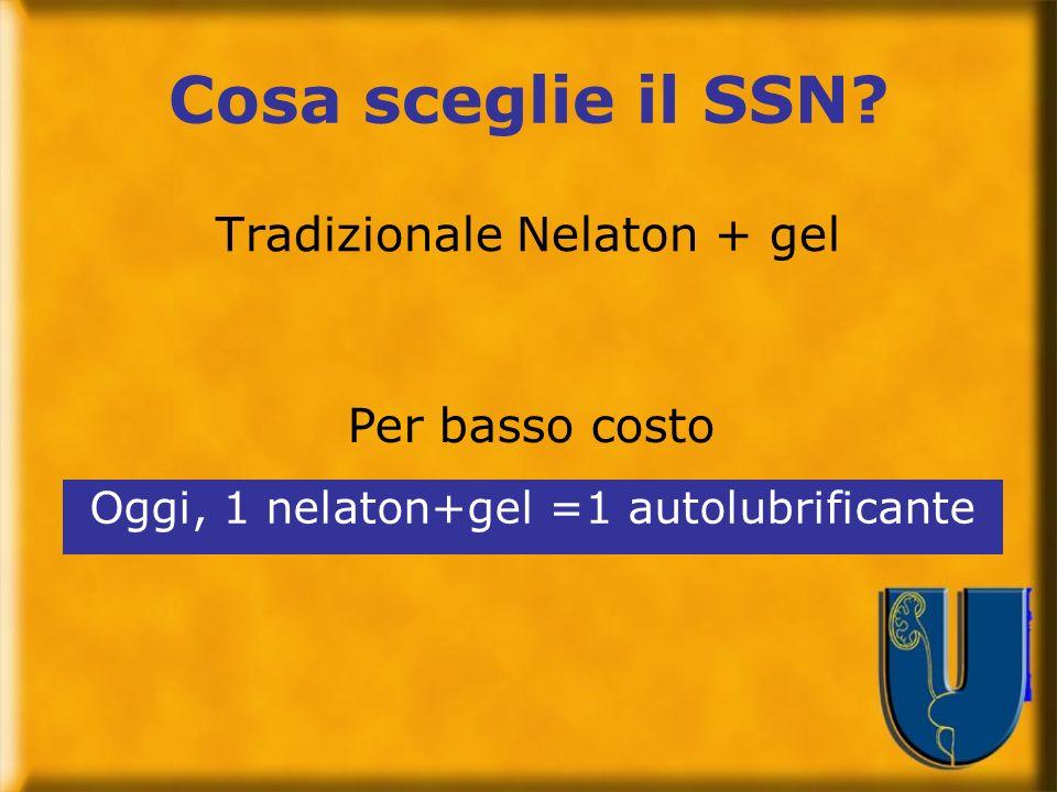 Cosa sceglie il SSN Tradizionale Nelaton + gel Per basso costo